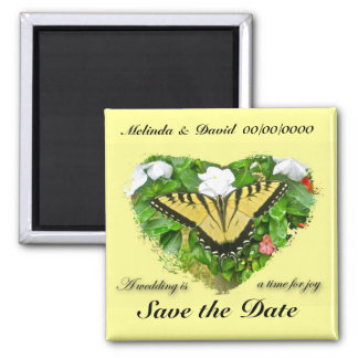 Wedding Swallowtail Butterfly Items Square Magnet