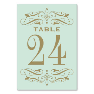 Wedding Table Card | Antique Gold Flourish