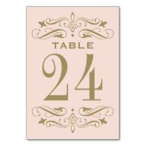 Wedding Table Card | Antique Gold Flourish