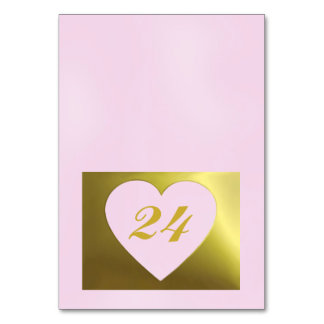 Wedding Table Card | Pink Golden Collection