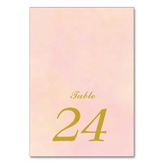 Wedding Table Card | Vintage Pale Rose Set