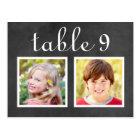 Wedding Table Number Cards | Bride + Groom Photos