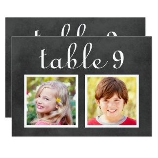 Wedding Table Number Cards | Bride + Groom Photos 13 Cm X 18 Cm Invitation Card