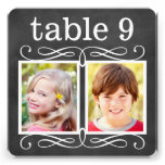 Wedding Table Number Cards | Bride + Groom Photos Announcement