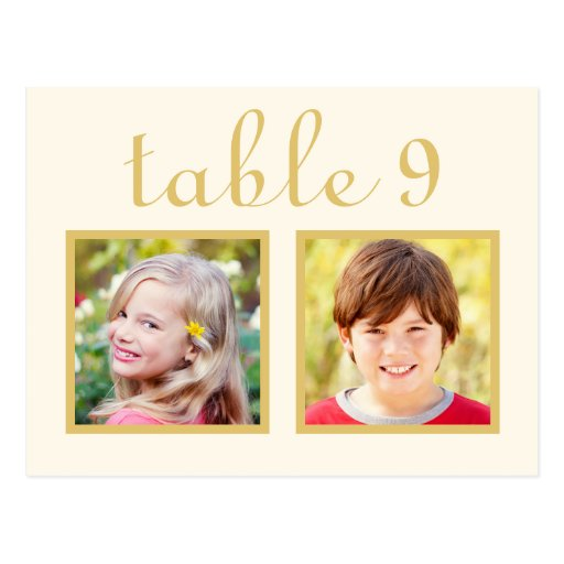 Wedding Table Number Cards | Bride + Groom Photos Post Card