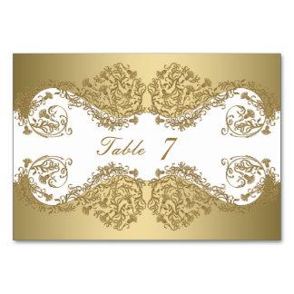 Wedding table number cards - wedding Gold elegant Table Cards