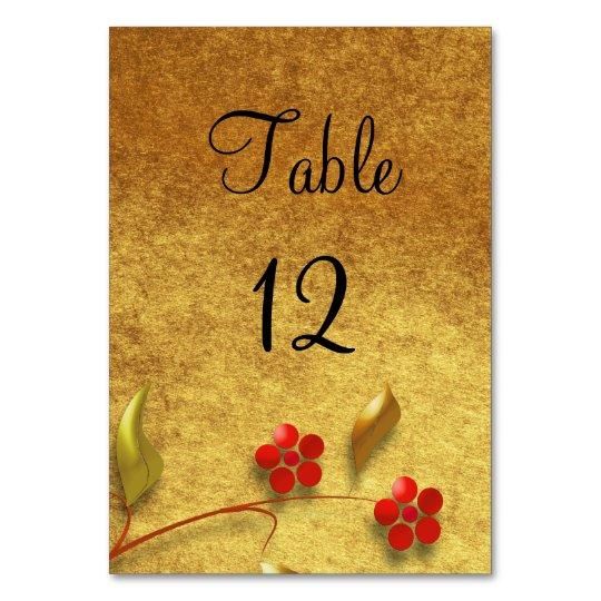 Wedding Table Number   Floral design