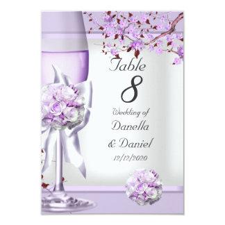 Wedding Table Number Lavender Purple Lilac 4 9 Cm X 13 Cm Invitation Card