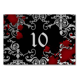 Wedding table number spooky theme