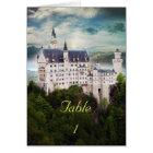 Wedding Table Place Card, castle theme Card