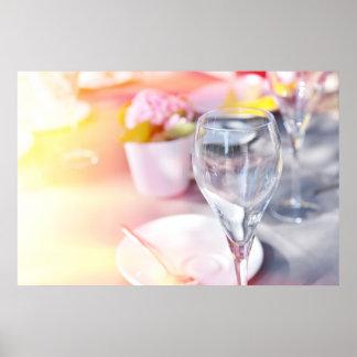 Wedding table under sun poster