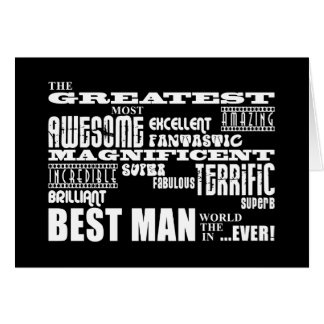 Wedding Thank You Best Men : Greatest Best Man Card