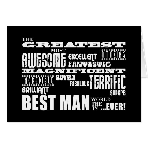 Wedding Thank You Best Men : Greatest Best Man Greeting Card