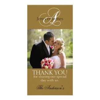 Wedding Thank You Bride Groom Photo Cards