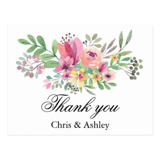 Wedding Thank You Card Married Couple Thank You