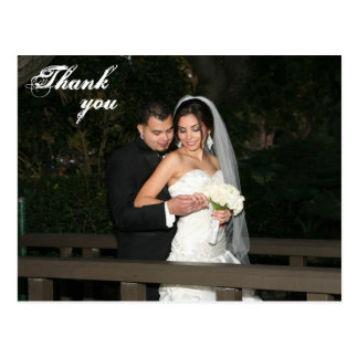 Wedding thank you card postcard