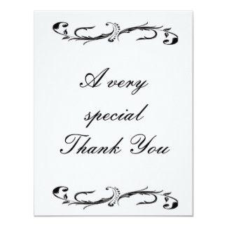 "Wedding Thank you cards has matching invitations 4.25"" X 5.5"" Invitation Card"