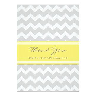 Wedding Thank You Cards Yellow Gray Chevron 13 Cm X 18 Cm Invitation Card