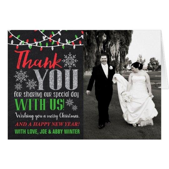 Wedding Thank You Christmas Card