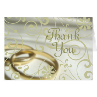 Wedding Thank You (Customisable Colour!) Greeting Card