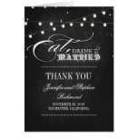 wedding thank you eat drink and be married greeting card