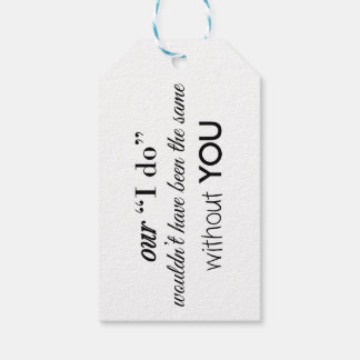 Wedding Thank You Favor Gift Tag