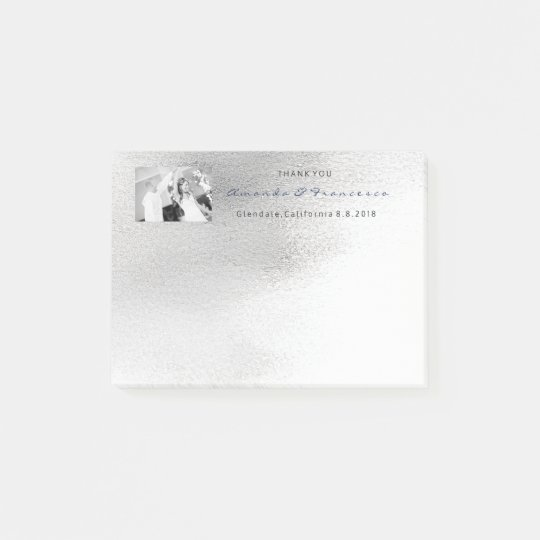 Wedding Thank You Favor Gray Silver White Ombre