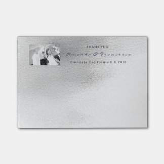 Wedding Thank You Favor Gray Silver White  Ombre Post-it® Notes