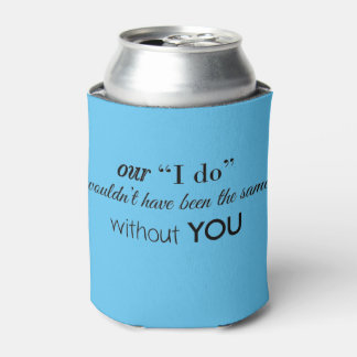 Wedding Thank You Favour Can Cooler