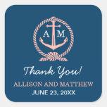 Wedding Thank You Favour Sticker   Nautical Theme