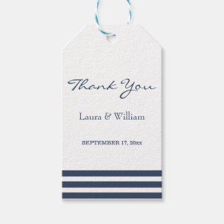 Wedding Thank You Gift Tags | Navy Stripes