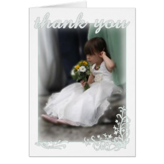 Wedding thank-you greeting card