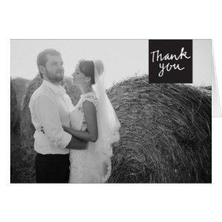 Wedding Thank You Greeting Card Black & White