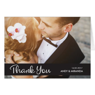 Wedding Thank You Greeting Cards Simple Elegant