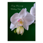 Wedding.Thank you Mum Card with orchid