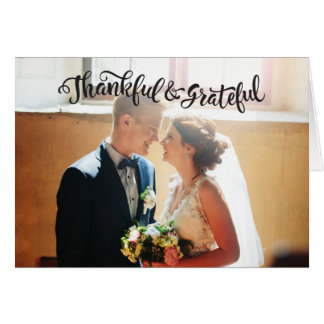 Wedding Thank You Note Cards Photocard Graitude