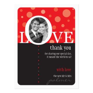 WEDDING THANK YOU NOTE :: LOVEbubbles 2 Postcard