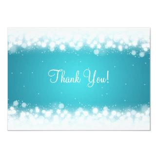 Wedding Thank You Note Magic Sparkle Turquoise 11 Cm X 16 Cm Invitation Card