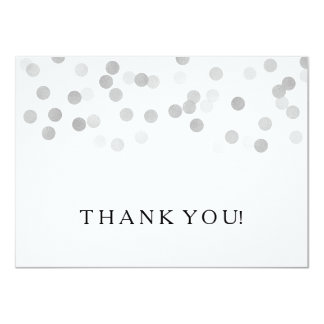 Wedding Thank You Note Silver Foil Glitter Lights 11 Cm X 16 Cm Invitation Card