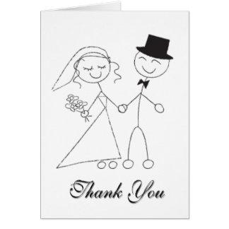 Wedding Thank You Notecard Bridal Wedding Thanks Note Card