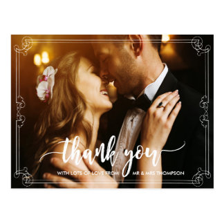 wedding thank you photo card personalized postcard