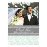 Wedding Thank You Photo Cards Grey Damask Custom Announcements
