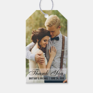 Wedding Thank You Photo Favour Gift Tags
