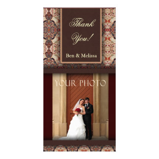 Wedding thank you Photo Template Card Picture Card