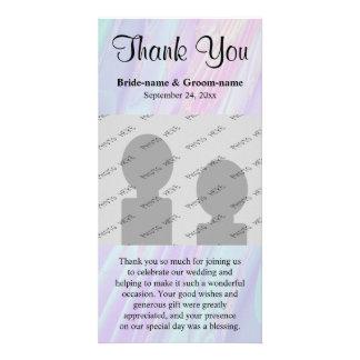 Wedding Thank You. Seashell Style Pattern. Customised Photo Card