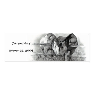 WEDDING thank you tags HORSES Business Card