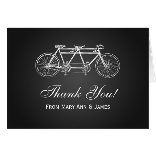 "Wedding ""Thank you"" Tandem Bike Black Card"