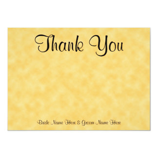 Wedding Thank You. Yellow and Black. 11 Cm X 16 Cm Invitation Card