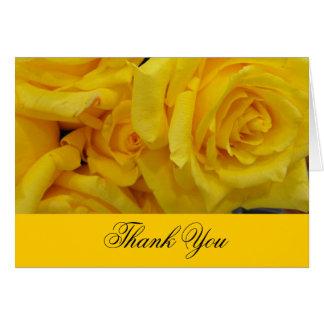 wedding thank you yellow rose flowers greeting card