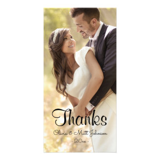 Wedding Thanks - Full Photo Photo Card Template